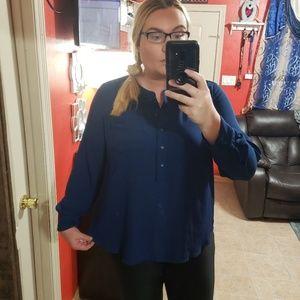 Lane bryant 18 20  tunic top  blue